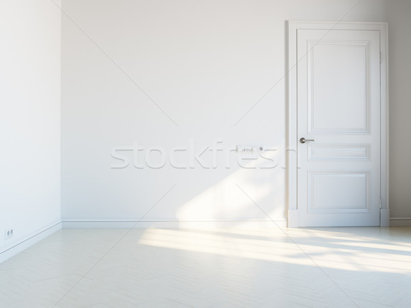 white empty interior with white door and sunlight Stock photo © vizarch