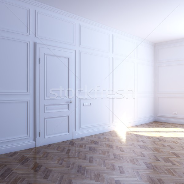 new white room with parquet flooring in the sun Stock photo © vizarch
