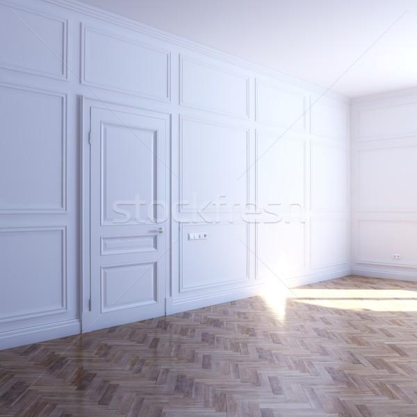 Neue weiß Zimmer Bodenbelag Sonne Business Stock foto © vizarch