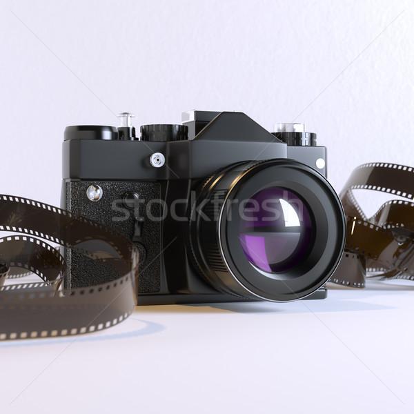 Vecchia foto fotocamera film film tecnologia blu Foto d'archivio © vizarch