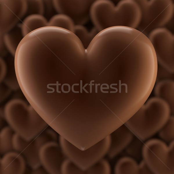 Chocolate Hearts Background For Valentines Day Greeting Card Design Stock photo © vizarch