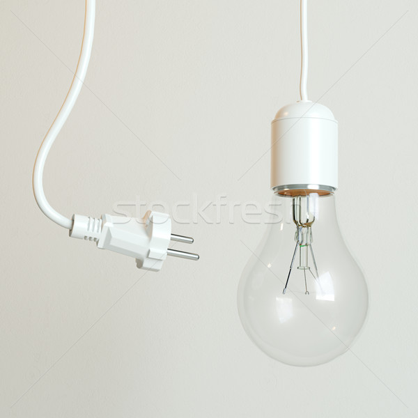 Soquete bulbo energia quadro luz vidro Foto stock © vizarch