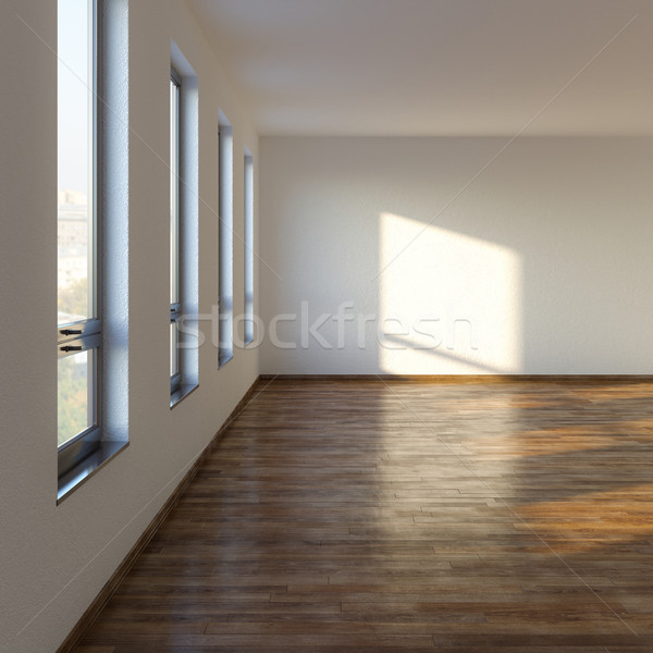 Stock Photo: Empty Living Room With Laminate Flooring Part 69