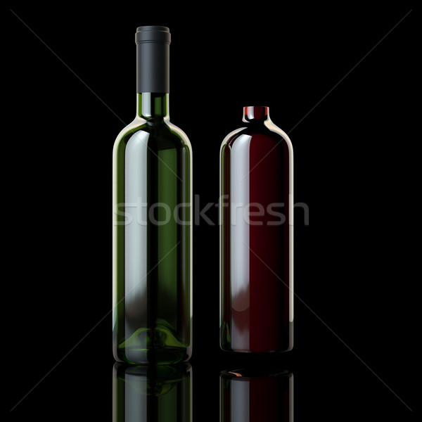 Wine Out Of A Bottle (Illustration For Grocery Advertising) Stock photo © vizarch