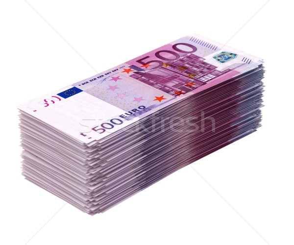 Grand argent isolé blanche euros Photo stock © vizarch