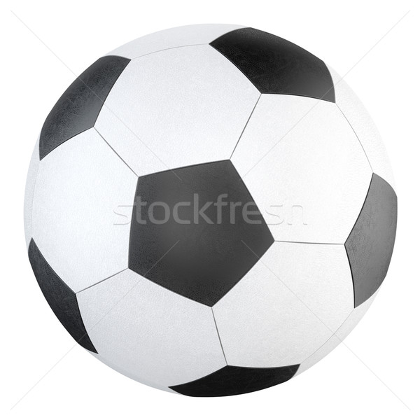 leather soccer ball isolated on white background  Stock photo © vizarch