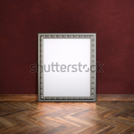 Classic Golden Frame In Gallerry Interior  Stock photo © vizarch