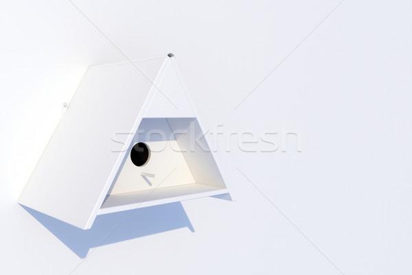 white nest box on white wall  Stock photo © vizarch