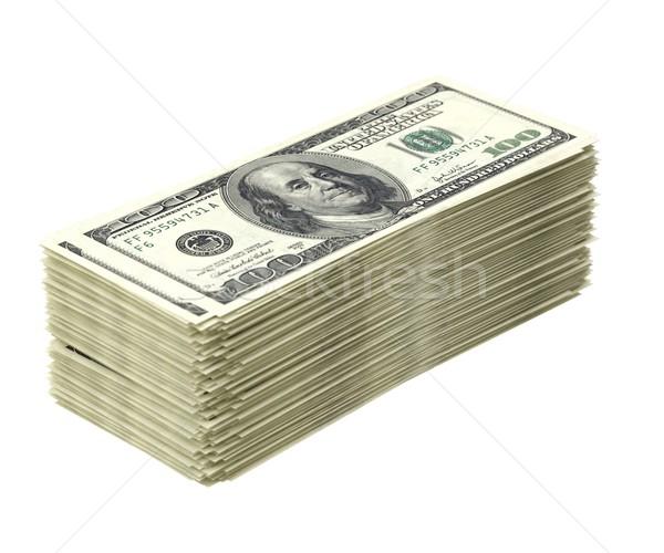 Boglya amerikai pénz izolált fehér üzlet Stock fotó © vizarch