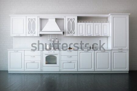 Luxury Classic Kitchen With Hardwood Floor Stock photo © vizarch