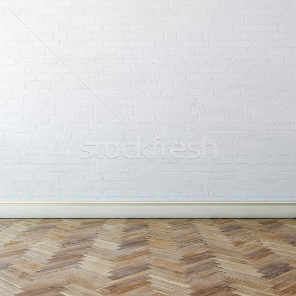 New Interior With White Wall And Classic Parquet Stock photo © vizarch