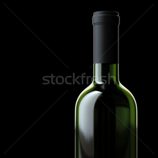 üveg bor izolált fekete háttér bár Stock fotó © vizarch