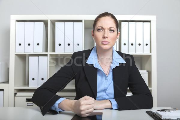 öfkeli işkadını büro iş kadını yumruk Stok fotoğraf © vizualni