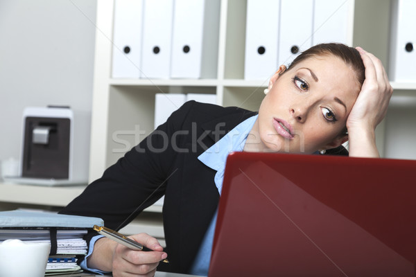 Yorgun mutlu büro iş kafa Stok fotoğraf © vizualni