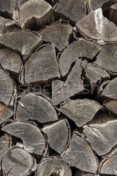 木材 ビッグ スタック 風化した 壁 ストックフォト © vizualni