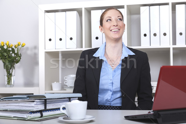 bookkeeper at her desk Stock photo © vizualni