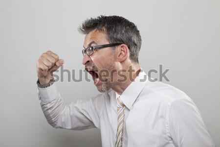 Angry man with gun Stock photo © vizualni