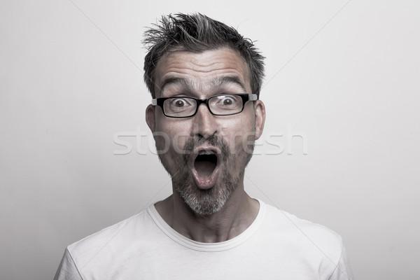 Portrait of a thrilled man Stock photo © vizualni