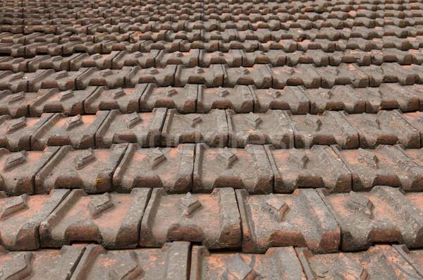 çatı inşaat antika fayans Stok fotoğraf © vizualni