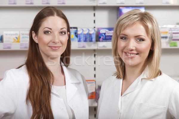 Twee drogist glimlachend milieu glimlach vrouwen Stockfoto © vizualni
