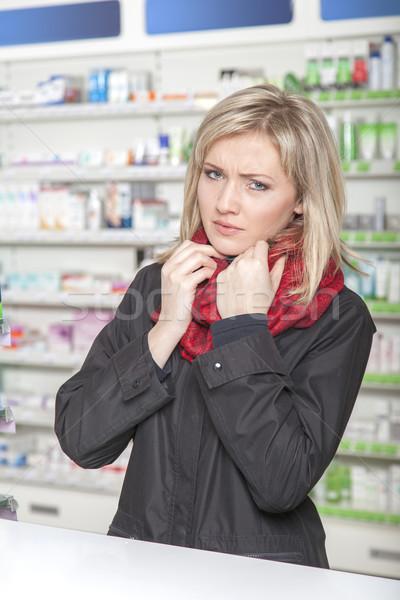 Customer has the flu Stock photo © vizualni