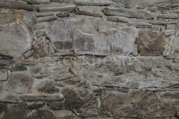 Kaya taşlar duvar uzay dekorasyon duvarlar Stok fotoğraf © vizualni