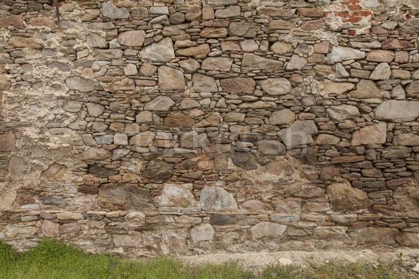 Kaya taşlar duvar doku uzay iç Stok fotoğraf © vizualni