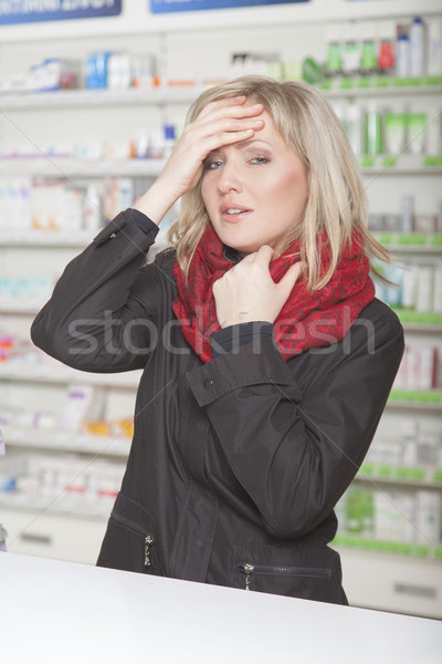Woman with headache Stock photo © vizualni