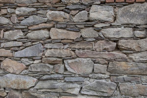 Kaya taşlar duvar doku iç dekorasyon Stok fotoğraf © vizualni