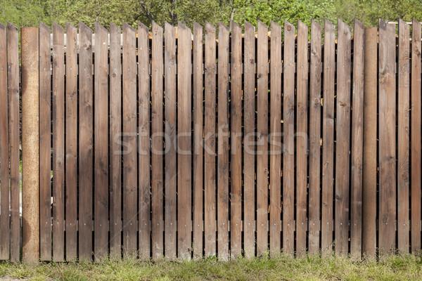 Kahverengi çit boyalı yıpranmış ahşap Stok fotoğraf © vizualni