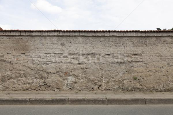 wall sidewalk curb street Stock photo © vizualni