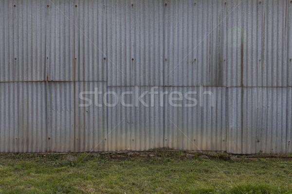 Csőr fal viharvert cink lap ház Stock fotó © vizualni