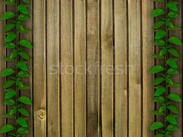 wonderful herbal and wooden background Stock photo © vkraskouski