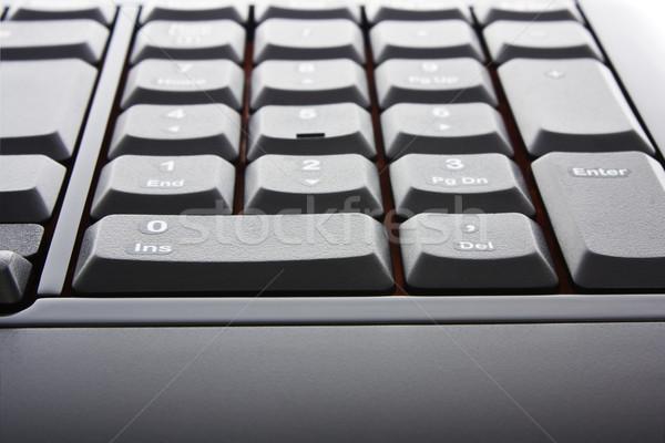 Fekete billentyűzet elegáns számítógép billentyűzet számítógép iroda Stock fotó © vkraskouski