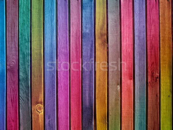 Colorido parede textura árvore construção Foto stock © vkraskouski