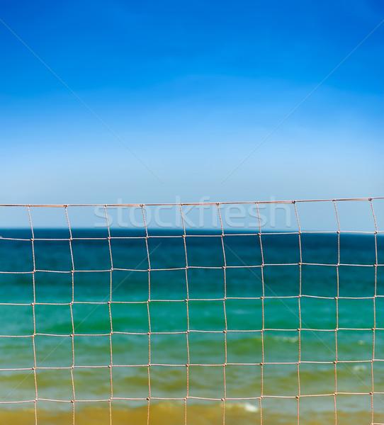 Net mavi gökyüzü deniz dalgalar atış Stok fotoğraf © vkraskouski
