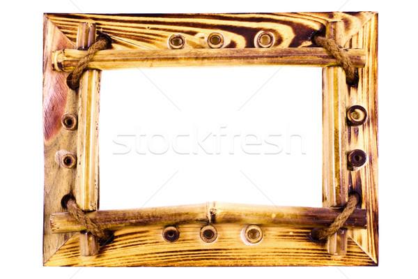 Vintage бамбук кадр текстуры стены Сток-фото © vkraskouski