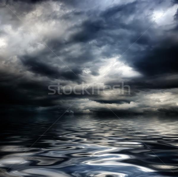 Sombre nuageux orageux ciel nuages vagues Photo stock © vkraskouski