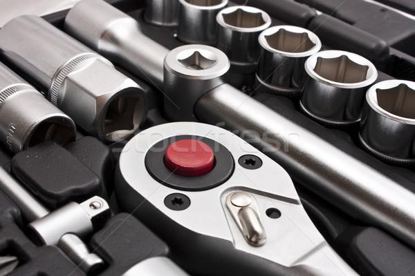 Metallic Werkzeuge Bau Hintergrund Arbeitnehmer Stock foto © vkraskouski