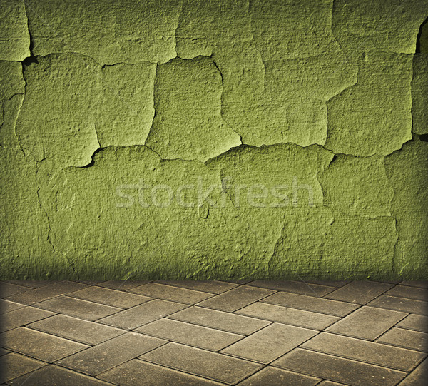 vintage int rieur vert fissur mur texture photo stock viachaslau kraskouski. Black Bedroom Furniture Sets. Home Design Ideas