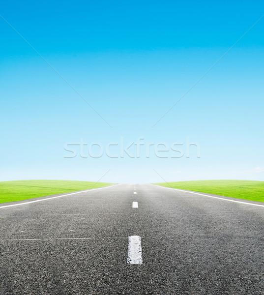 зеленый области дороги Blue Sky путешествия небе Сток-фото © vkraskouski