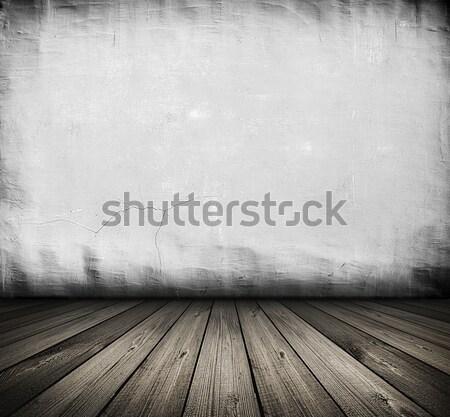 Vintage branco interior escuro quarto Foto stock © vkraskouski