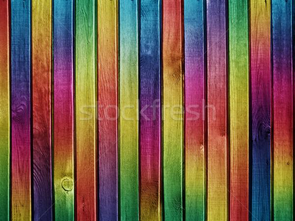 Színes fából készült textúra fa építkezés fal Stock fotó © vkraskouski