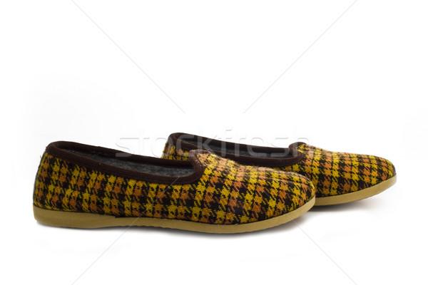 a pair of kid's slippers Stock photo © vkraskouski