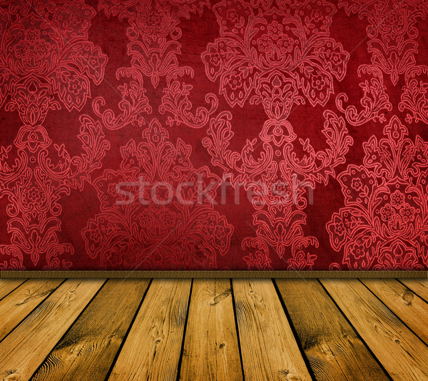 Scherp Rood vintage interieur soortgelijk Stockfoto © vkraskouski