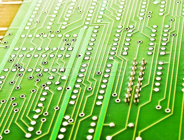 Verde placa de circuito internet abstrato tecnologia rede Foto stock © vkraskouski