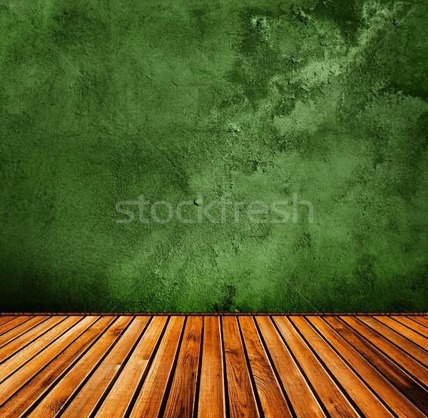 Grunge yeşil iç duvar soyut boya Stok fotoğraf © vkraskouski