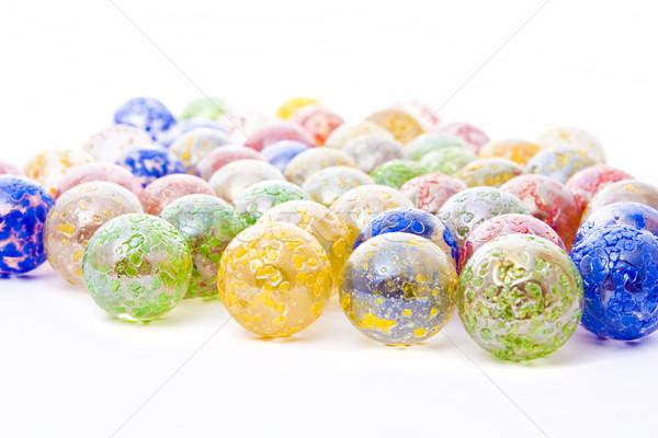 декоративный стекла красочный изолированный белый Сток-фото © vkraskouski