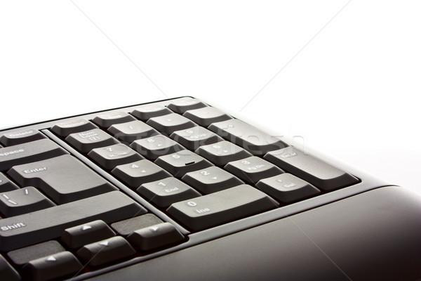 Klavye şık gri beyaz bilgisayar ofis Stok fotoğraf © vkraskouski
