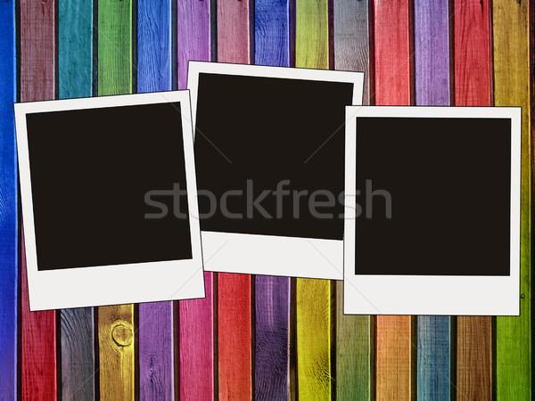 Renkli ahşap duvar fotoğrafları doku ağaç Stok fotoğraf © vkraskouski